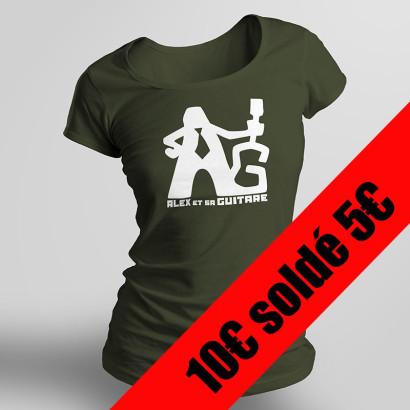 t-shirt kaki femme solde