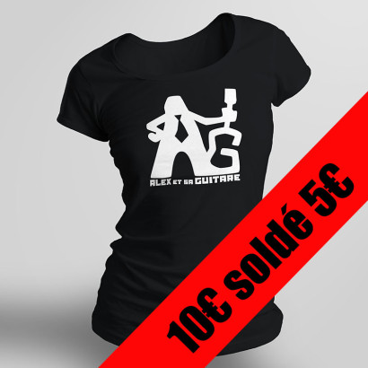 t-shirt noir femme solde