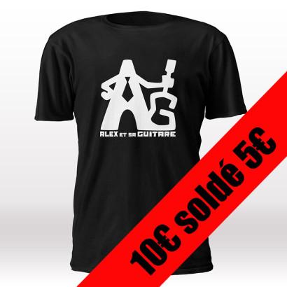 t-shirt noir homme solde