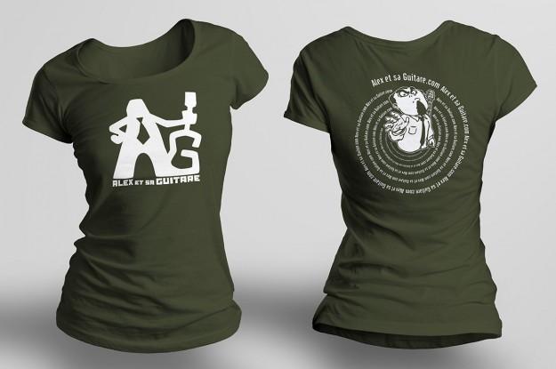 t-shirt femme kaki